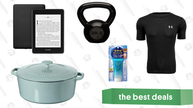 Saturday's Best Deals: Cuisinart Cast Iron, AmazonBasics Kettlebells, Sunscreen, Kindles, and More