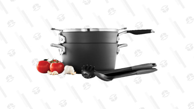 This $79 Pot and Pan Combo by Calphalon Stacks Nice and Neat