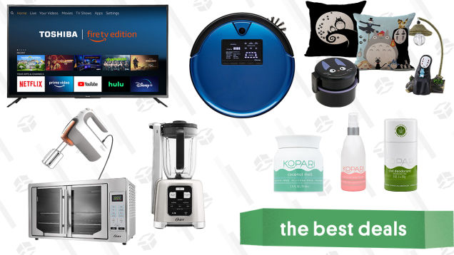 Saturday's Best Deals: Oster Kitchen Appliances, Toshiba 55-inch Fire 4K TV, Kopari CBD Deodorant & Beauty Items, Bobsweep PetHair Plus Robot Vacuum, and More