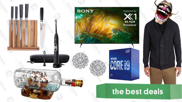 Friday's Best Deals: Intel Core i9, LEGO Ship in a Bottle, Diamond Halo Earrings, Sony X800H 65″ 4K TV, Philips Sonicare Electric Toothbrush, and More