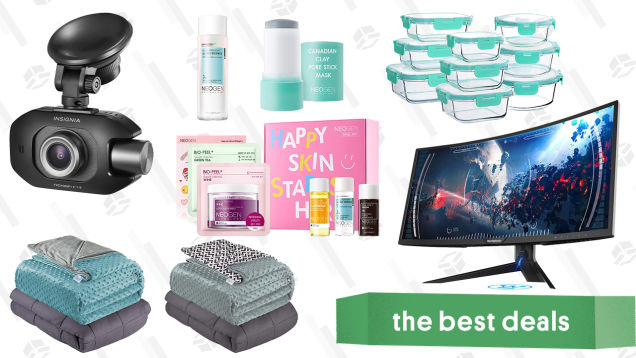 Sunday's Best Deals: Quility Weighted Blankets, Westinghouse Curved Gaming Monitor, Dermalogy by Neogen Skincare, Insignia Dash Cam, and More